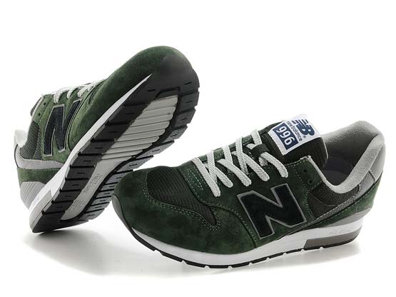 Women  New Balance 996 Running Shoes Color Army Green&gray