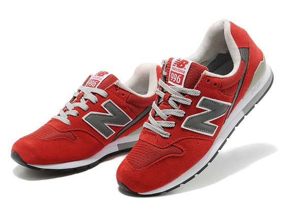 Women  New Balance 996 Running Shoes Color Red&gray