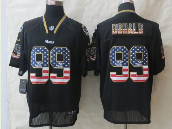 Mens Nfl St. Louis Rams #99 Donald Black (2014 Usa Flag Fashion) Elite Jersey