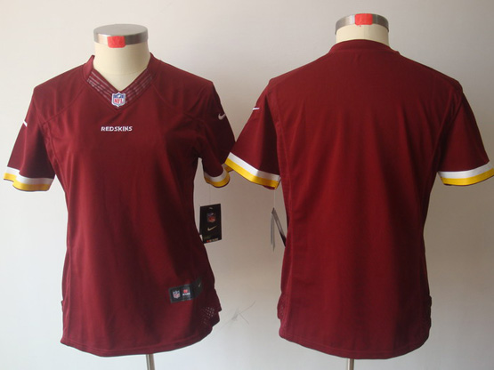 Women  Nfl Washington Redskins Blank Red Limited Jersey