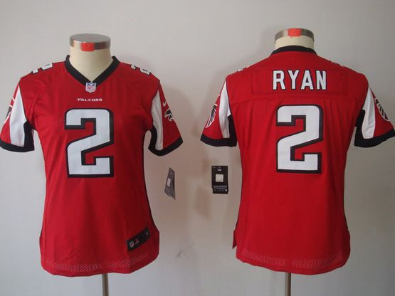 Women  Nfl Atlanta Falcons #2 Ryan Red Limited Jersey