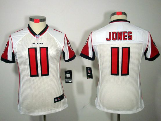 Women  Nfl Atlanta Falcons #11 Jones White Limited Jersey