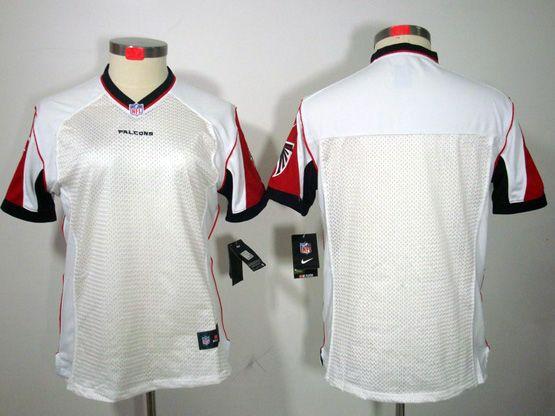 Women  Nfl Atlanta Falcons Blank White Limited Jersey