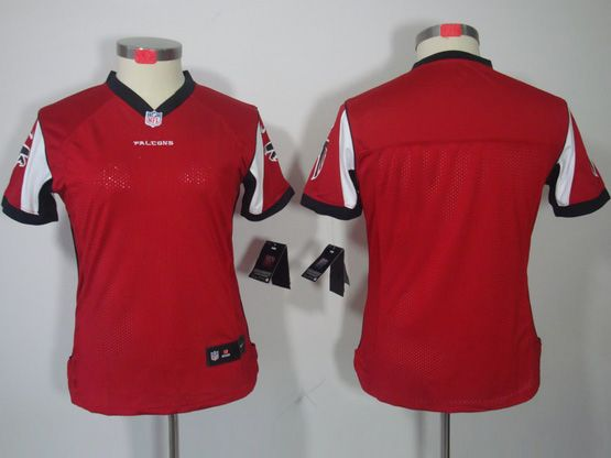 Women  Nfl Atlanta Falcons Blank Red Limited Jersey