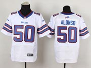Mens Nfl Buffalo Bills #50 Alonso White (2013 New) Elite Jersey