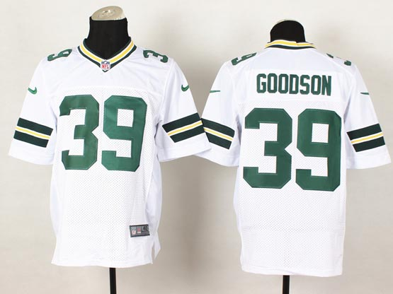 Mens Nfl Green Bay Packers #39 Goodson White Elite Jersey