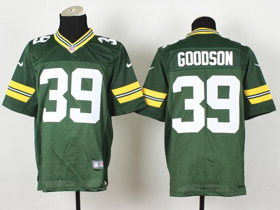 Mens Nfl Green Bay Packers #39 Goodson Green Elite Jersey