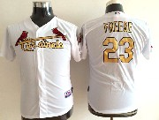 Youth Mlb St.louis Cardinals #23 Freese (gold Number) White Jersey