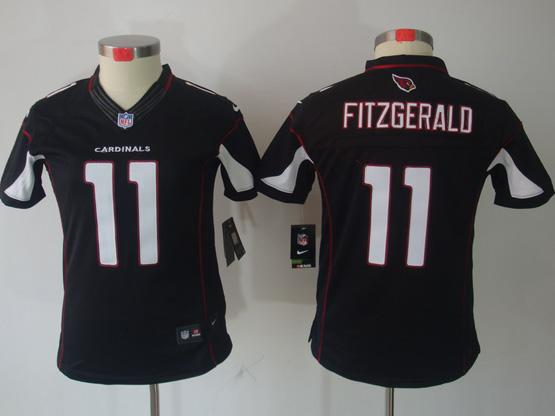 Women  Nfl Arizona Cardinals #11 Larry Fitzgerald Black Limited Jersey