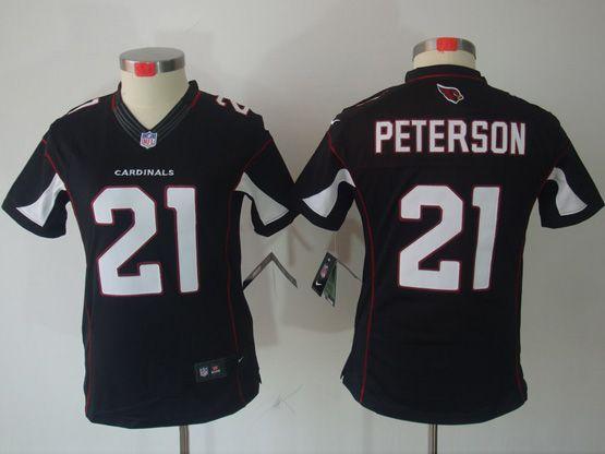 Women  Nfl Arizona Cardinals #21 Patrick Peterson Black Limited Jersey