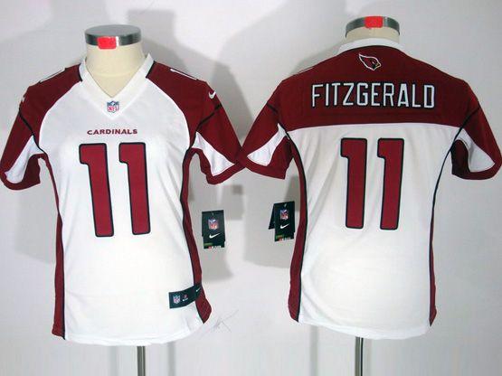 Women  Nfl Arizona Cardinals #11 Larry Fitzgerald White Limited Jersey