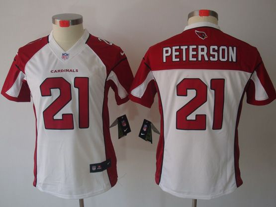 Women  Nfl Arizona Cardinals #21 Patrick Peterson White Limited Jersey