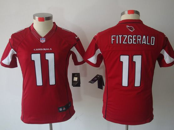 Women  Nfl Arizona Cardinals #11 Larry Fitzgerald Red Limited Jersey
