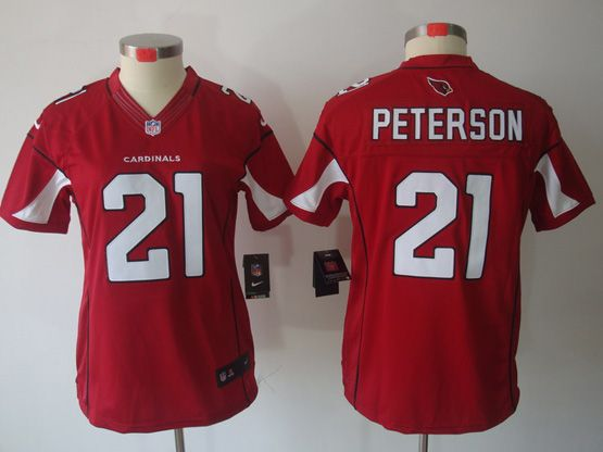Women  Nfl Arizona Cardinals #21 Patrick Peterson Red Limited Jersey