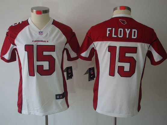 Women  Nfl Arizona Cardinals #15 Michael Floyd White Limited Jersey