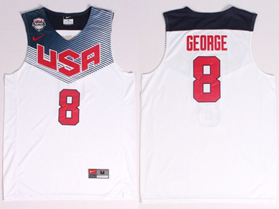 Mens Nba Usa Team 2014 Fiba Basketball World Cup #8 George White Jersey (p)