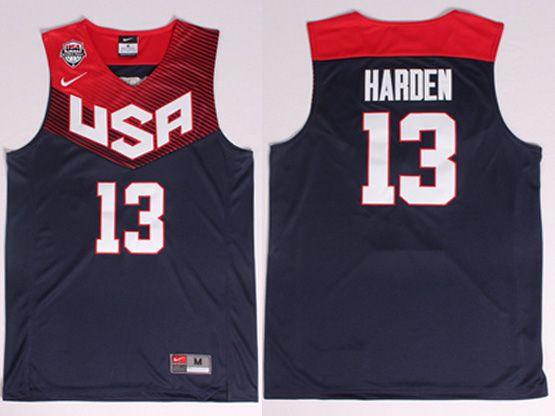 Mens Nba Usa Team 2014 Fiba Basketball World Cup #13 Harden Dark Blue Jersey (p)