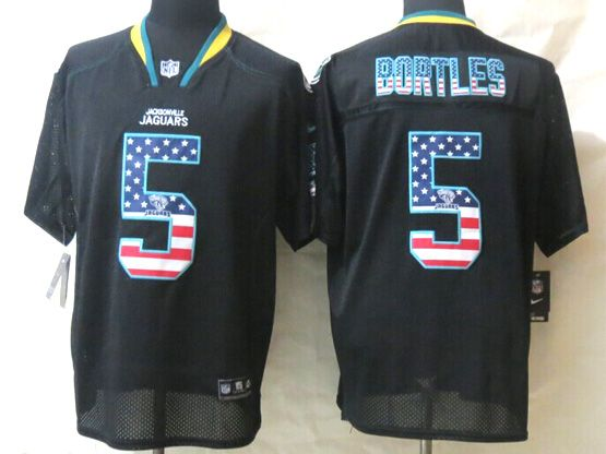 mens nfl Jacksonville Jaguars #5 Blake Bortles black (2014 usa flag fashion) elite jersey