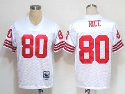 Mens nfl san francisco 49ers #80 rice white throwbacks Jersey