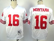 Mens nfl san francisco 49ers #16 montana white throwbacks Jersey