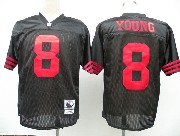 Mens nfl san francisco 49ers #8 young black throwbacks Jersey