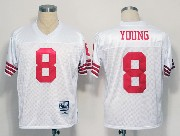 Mens nfl san francisco 49ers #8 young white throwbacks Jersey