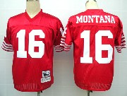 Mens nfl san francisco 49ers #16 montana red throwbacks Jersey