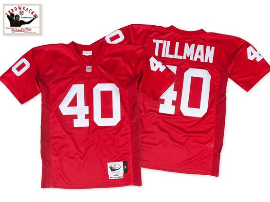 Mens Nfl Atlanta Falcons #40 Tillman Red Throwbacks Jersey