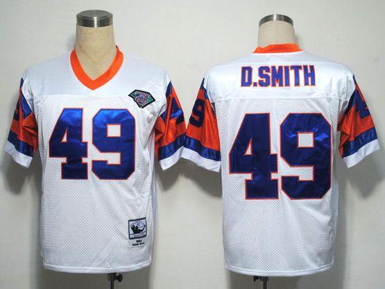 Mens nfl denver broncos #49 d.smith white 75th throwbacks Jersey