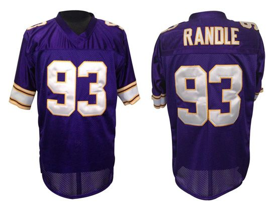 Mens nfl minnesota vikings #93 randle purple throwbacks Jersey