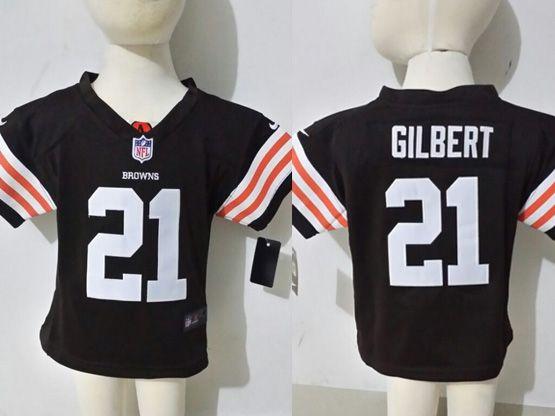 Kids Nfl Cleveland Browns #21 Gilbert Brown Jersey