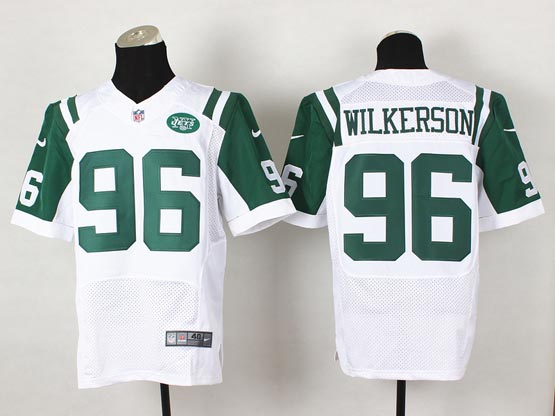 mens nfl New York Jets #96 Muhammad Wilkerson white elite jersey