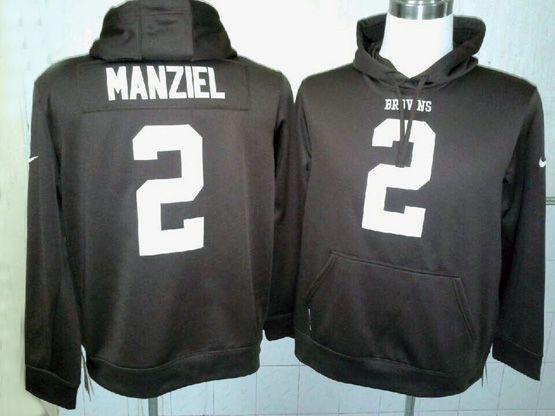 Mens Nfl Nfl Cleveland Browns #2 Manziel Brown Hoodie Jersey