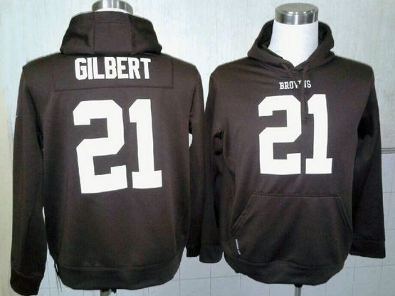 Mens Nfl Cleveland Browns #21 Gilbert Brown Hoodie Jersey