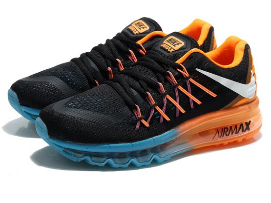 Women Air Max 2015 Running Shoes Color Black&orange&green
