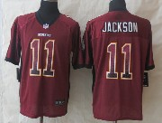 Mens Nfl Washington Redskins #11 Jackson Drift Fashion Red Elite Jersey