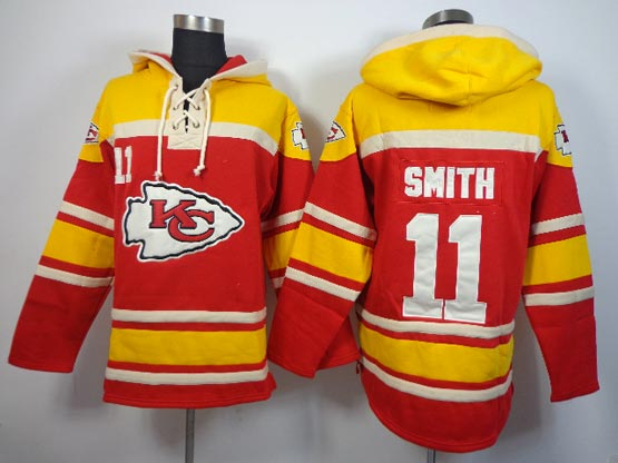 Mens Nfl Kansas City Chiefs #11 Smith Red (team Hoodie) Jersey