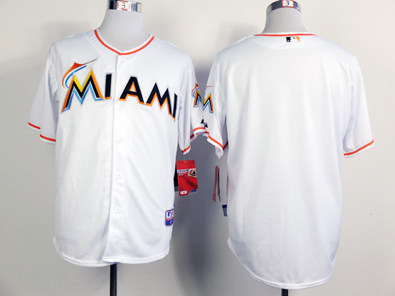 Mens Mlb Miami Marlins (blank) White Jersey