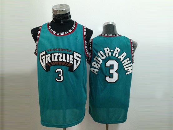 Mens Nba Vancouver Grizzlies #3 Abdur-rahim Green Jersey(m)