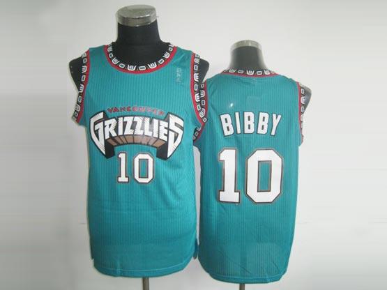 Mens Nba Vancouver Grizzlies #10 Bibby Green Jersey(m)