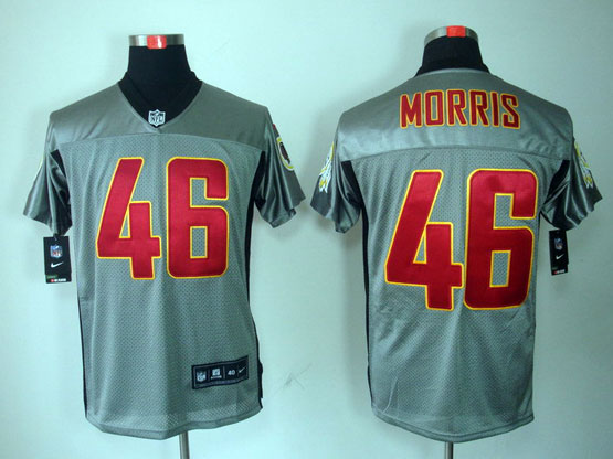 Mens Nfl Washington Redskins #46 Morris Gray Shadow Elite Jersey