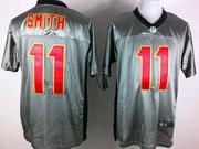 Mens Nfl San Francisco 49ers #11 Smith Gray Shadow Elite Jersey