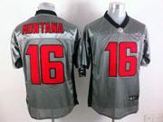 Mens Nfl San Francisco 49ers #16 Montana Gray Shadow Elite Jersey