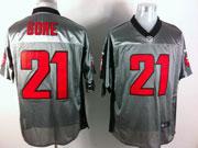 Mens Nfl San Francisco 49ers #21 Gore Gray Shadow Elite Jersey