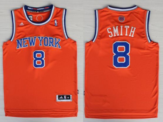 Mens Nba New York Knicks #8 Smith Orange Revolution 30 Jersey (p)
