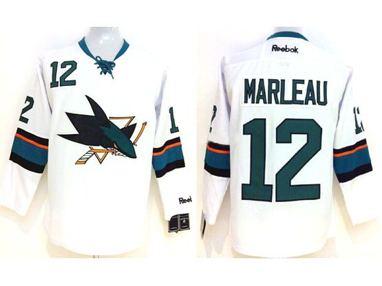 Mens reebok nhl san jose sharks #12 marleau white (2014 new) Jersey