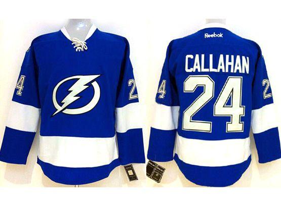 Mens reebok nhl tampa bay lightning #24 callahan blue Jersey