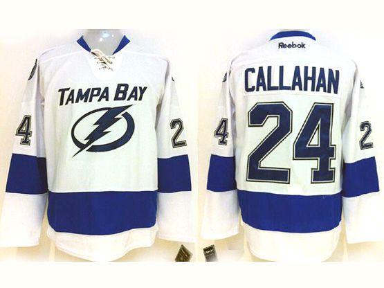 Mens reebok nhl tampa bay lightning #24 callahan white Jersey