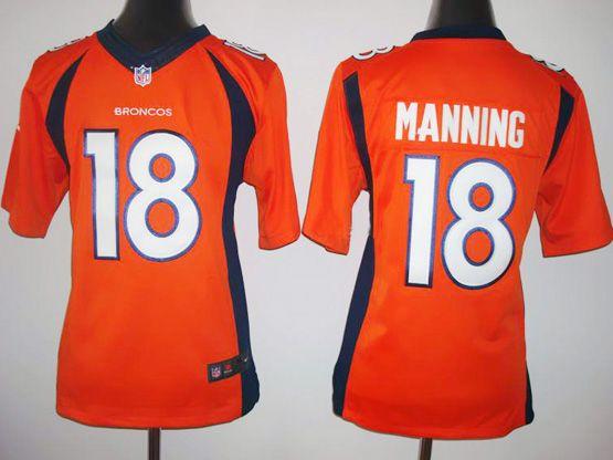 Youth Nfl Denver Broncos #18 Manning Orange (2014 New) Limited Jersey