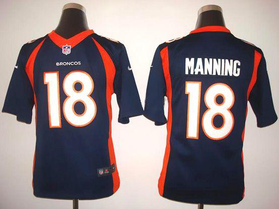 Youth Nfl Denver Broncos #18 Manning Blue (2014 New) Limited Jersey